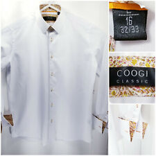 COOGI Classic Mens Large 16 Shirt Long Sleeve Button Up White