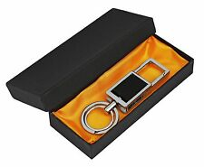 Gentesi™ compact black Key Holder and organizer, car key chain, 2 key rings,