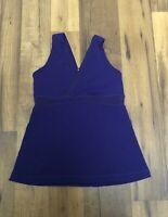 Lululemon Womens Tank Top Workout Yoga Shirt Purple Built In Bra Sz 6 EUC