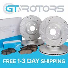 Front & Rear Premium Brake Disc Rotors & Ceramic Brake Pads for Honda Element
