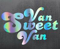 VAN SWEET Chrome holographic vinyl sticker funny car decal JDM DUB bumper