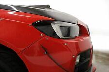 BLACK Headlight Amber Delete Pre-Cut Overlay for 2015 - 2019 Subaru WRX / STI
