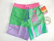 Vintage 90 MC KEE'S Boxer S Shorts Costume Beach Pantaloncini Verde NOS 80