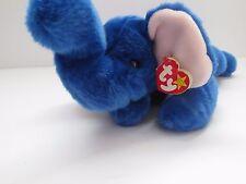 """Peanut"" the Royal Blue Elephant TY Plush Beanie Babies"