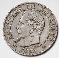 5 CENTIMES NAPOLEON III TETE NUE 1855K CHIEN BORDEAUX