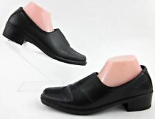 ECCO Center Seam Low Heel Slip On Shoes Black Leather EU 42 / US 11-11.5