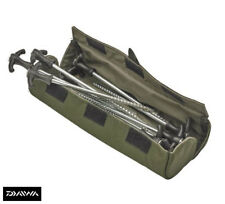 New Daiwa Infinity Tent Peg Roll - 10  x Tent Pegs & Carry Case - IPR1