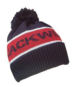 Jack Wills Pom Beanie Hat Kitson Mens Navy Red One Size 100% Genuine Brand New