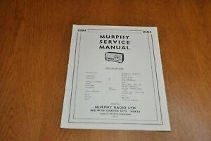 Murphy U504 Radio Service Manual