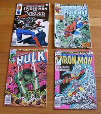 Lot of 4 Stan Lee 1980 Marvel Comics Spider-Man #94 #117 Hulk #245 Iron Man #130