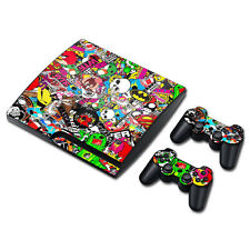 PS3 Slim Playstation 3 Console Skin Decal Sticker Graffiti Collage Custom Design
