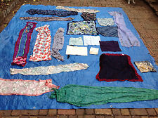 Lot of 21 Women's Scarves and Handkerchiefs