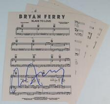 "Bryan Ferry ROXY MUSIC Signed Autograph ""Slave To Love"" Sheet Music"