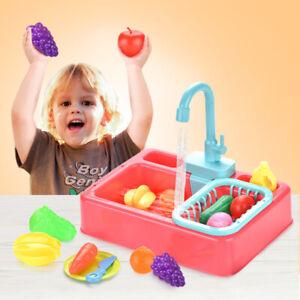 Simulation Kitchen Toy Kids Electric Sink Dishwashing Set Child Pretend Play Toy