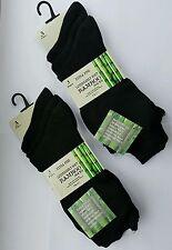 3x Pairs Ladies Black Luxury Bamboo Super Soft Anti Bacterial Socks-size UK 4-7