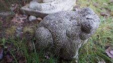 Beautiful Hand Carved Japanese Meiji Granite Stone Frog Toad Figure Statue