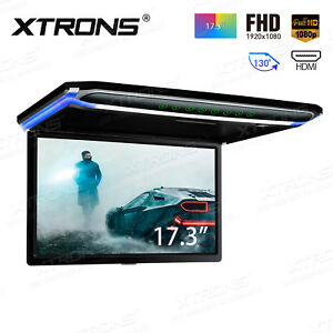 """17.3"""" Car NON-DVD player HDMI Roof mount in Car Flip Down Monitor Full HD 1080P"""