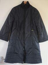 Ladies Kenzo Black Quilted Winter Coat Padded double zip Size 10 Kimono