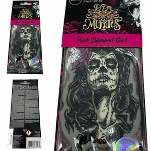 Day Of The Dead Pink Diamond Girl Aroma Cellulose Car Air Freshener New & Sealed