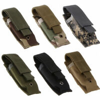New Tactical Single Mag Pouch Pistol Cartridge Clip Magazine Storage Bag For Men