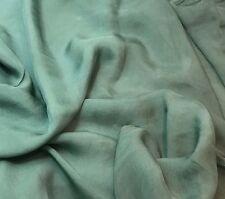 Sheer Soft Silk ORGANZA Fabric Hand Dyed SAGE GREEN 1/3 yard remnant