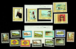COSTA RICA PAINTINGS LANDSCAPES ICT 16v MNH STAMPS CV $10.90