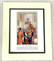 1914 Antique Print St James's Palace London British Royal State Ceremony Levee