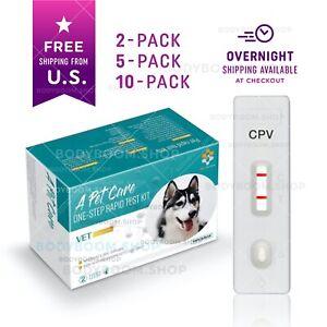 Canine PARVOVIRUS Rapid Test Kit (10, 5 or 2) Parvo Virus Home Tests f. Dogs CPV