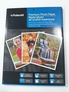 "3 Packs Of POLAROID PREMIUM GLOSSY PHOTO PAPER All Ink Jet Printers 8.5 "" x 11"""