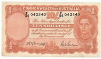 Australia 1939-1952 Banknote 10 Shillings King George VI as pictured