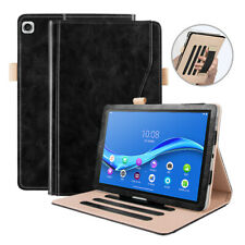 Black Luxury Case Cover & Stylus for Lenovo Tab M10 Plus FHD Tablet
