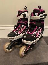 Girls Spitfire Xtg Adjustable Rollerblades Size 2 3 4 5 Black Pink InLine Skates
