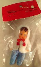 """Vintage Rubber Doll East Germany Jointed Crochet Pants NEW UNOPENED PACKAGE 3"""""""