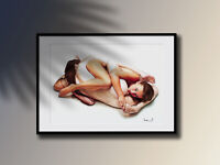 Akt Zeichnung | Erotik | Pin-Up | Nude Art | LE of 15 Pcs. | Act 1739 by Ariel®
