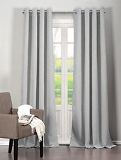 """New Duck River Textile Quincy Room Darkening Panel Curtains Gray 76"""" x 95"""""""