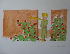 Antoine de SAINT-EXUPERY : Je connais une fleur #LITHOGRAPHIE SIGNEE # PRINCE