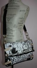 Rare Tokidoki For LeSportsac Ciao-Ciao Black & White Large Messenger Flap Bag