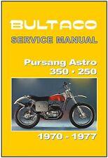BULTACO Workshop Manual Pursang Astro 360 1973 1974 1975 1976 1977 1978 & 1979