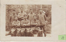 Soldats allemands guerre 14-18 photo sur CPA lot 27