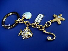 NWOT Coach Under the Sea Mix Key Fob Key Chain Key Ring Purse Charm 93169 Multi