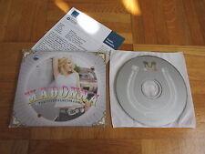 MADONNA What It Feels Like For A Girl EU collectors CD single + german infosheet
