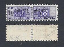 TRIESTE A 1949 Pacchi Postali 10L Soprastampa Modificata MNH**RR Certificati (K)