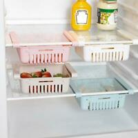 Adjustable Refrigerator Storage Rack Fridge Drawer Pull-out Storage Box Shelf UK