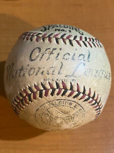 EXTREMELY RARE! - 1910-11 Official National League (TJ Lynch) Spalding Baseball