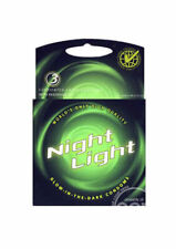 Glow in the dark CONDOMS 3pk birth control DARK LUBRICATED sexual protection new