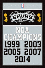 SAN ANTONIO SPURS - 2014 NBA CHAMPIONS POSTER - 22x34 BASKETBALL 13721