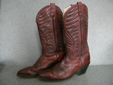 1980's Classic Burgundy Western Boot's By Acme Made in Usa 11 B,Good Cond.