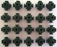 Vintage Fisher Price CONSTRUX Building Toys Parts Lot: 20 Green Knot Connectors