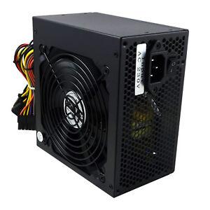 500W Power Supply ATX Computer PC PSU Unit 500 Watt 12CM Silent Fan Veno Scorp