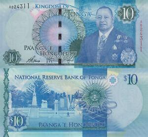 Tonga 10 Pa'anga (2015) - King/Tomb/p46 UNC